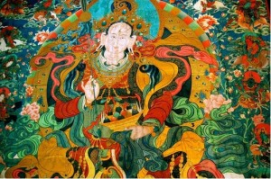 Bodhisattva tibetan thangka