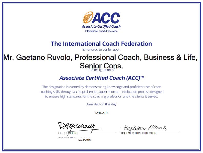 ACC certification (Associate Certified Coach) approved by ICF ...