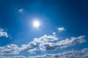 sun and clouds e cielo azzurro